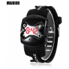 MAIKOU MK007  Μοδάτο Ψηφιακό Ρολόϊ Χειρός με Κόκκινο LED και Λουρί Σιλικόνης Μαύρο (BULK)