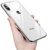 ttec TPU Silicone Back Cover Case Transparent Back with Black side for iPhone X / XS