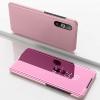 Θήκη Clear View για Xiaomi Mi A3 Ροζ Μεταλλικο (OEM)