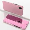Θήκη Clear View για Xiaomi Redmi 7A Ρόζ Χρυσό (OEM)
