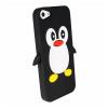 Iphone 5C - Θήκη Σιλικόνης TPU Πιγκουίνος Μαύρο (ΟΕM)