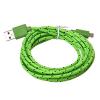 Καλώδιο Braided Φόρτισης και Μεταφοράς Δεδομένων USB σε Micro USB - 1.2m Πράσινο