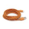 Καλώδιο Braided Φόρτισης και Μεταφοράς Δεδομένων USB σε Lightning - 1.2m Πορτοκαλί