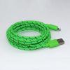 Καλώδιο Braided Φόρτισης και Μεταφοράς Δεδομένων USB σε Lightning - 3m Πράσινο