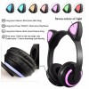 Ακουστικά Headset Bluetooth με μικρόφωνο και 7 Χρώματα Led ZW-19 - Μαύρο