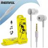 Ακουστικα  Stereo Hi-Fi Handsfree ΛΕΥΚΟ  RM-603  ΓΙΑ  mp3, iPhone, iPad, smartphones (REMAX)