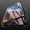 Σκληρή μαγνητική θήκη (με τζάμι μπροστά κ πίσω) για Xiaomi Redmi Note 8 Μαύρη (OEM)