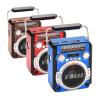 RRS RS-620U Ραδιόφωνο FM AM SW Με Υποδοχή USB / SD Κάρτα Και Φακό Επαναφορτιζόμενο 3W - Κόκκινο