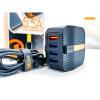 Φορτιστής Moxom MX-HC09 5.5A 4 USB θήρες Quick Charge 3.0 με καλώδιο Lightning