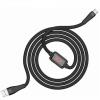 Καλώδιο σύνδεσης Hoco S4 USB σε TYPE-C Μαύρο 1.2m με ένδειξη φόρτισης