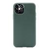 """Θήκη Σιλικόνης για Apple iPhone 12 mini 5.4"""" ΣΚΟΥΡΟ ΠΡΑΣΙΝΟ(ΟΕΜ)"""