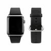 Caseual Δερμάτινο Λουράκι για το Apple Watch 42mm Μαύρο LBD42AW-BLK