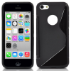 iphone 5C Gel TPU Θήκη S-Line Μαύρη IP5CGTPUCSLB OEM