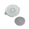 iPhone 4 home button white with metal spacer (White)