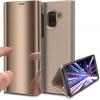 Θήκη Clear View για Samsung Galaxy J6 2018 Χρυσή (ΟΕΜ)6