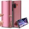 Θήκη Clear View για Samsung Galaxy J4 2018 Ροζ (ΟΕΜ)