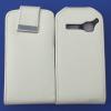 Δερμάτινη Θήκη Flip για Alcatel One Touch S'Pop OT 4030d Λευκό (OEM)