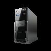Powerlogic Azzura GT5 PC Case με Τροφοδοτικό 450W Γκρι AZZURAGT5