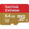 Sandisk Extreme micro SDHC/ SDXC UHS-I Card with SD Adapter 64GB 90MB/s SDSQXNE-064G-GN6MA
