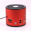 WS-138RC Mini MP3/Fm radio Speaker with built-in MP3 player and FM radio, support MP3 play from USB/microSD Card - Red - Φορητό ηχείο με δυνατότητα αναπαραγωγής Mp3 μέσω USB ή SD κάρτας και ενσωματωμένο FM δέκτη - Κόκκινο