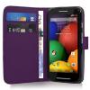 Motorola Moto E Dual SIM XT1022 - Δερμάτινη Θήκη Πορτοφόλι Μώβ (ΟΕΜ)
