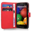 Motorola Moto E Dual SIM XT1022 - Δερμάτινη Θήκη Πορτοφόλι Κόκκινο (ΟΕΜ)