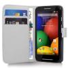 Motorola Moto E Dual SIM XT1022 - Δερμάτινη Θήκη Πορτοφόλι Λευκό (ΟΕΜ)