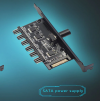 SATA Hub HDD VGA PWM Fan PCI , ανεμιστήρα υπολογιστή προσαρμογέα τροφοδοτικού (OEM)(BULK)