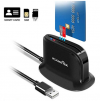 USB Smart Card Reader, Rocketek DOD Military USB Common Access CAC Card Reader Adapter|ID Card/IC Bank Chip Card|Micro SD Card Reader, CAC Card Reader Compatible with Windows XP/Vista/7/8/11, Mac OS