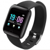 116 PLUS SMARTWATCH FITNESS ΜΑΥΡΟ (OEM)