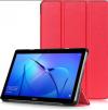 Δερματίνη Θήκη Αναδιπλούμενη 2 Θέσεων για Huawei MediaPad T3 9.6 Κοκκινο (OEM)