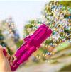 Υπαίθριο παιχνιδι με σαπουνοφουσκες Ροζ χρωμα, οπλο (oem)