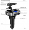 V6 Bluetooth Hands Free Car Kit FM Transmitter MP3 Player with Bluetooth Earphone