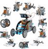 Discovery Kids Mindblown STEM 12-In-1 Solar Robot Kit, 190-Piece