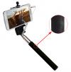 Βραχίονας-Βάση iPhone Κινητών  για Selfies με κουμπί και καλώδιο ήχου Μαύρο