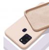 Θήκη Σιλικόνης για Samsung A21S Μπεζ Ροζ (ΟΕΜ)