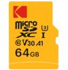 KODAK microSDXC 64GB UHS-I U3 V30 A1 4K Video Recording EKMSDM64GXC10HPRK