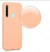 Θήκη ματ tpu σιλικονη μαλακή πίσω κάλυμμα για XIAOMI Note 8 - ανοιχτο ροδακινι χρωμα  (oem)