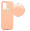 Θήκη ματ tpu σιλικονη μαλακή πίσω κάλυμμα για Samsung Galaxy M31 - ροδακινι χρωμα  (oem)