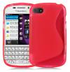 Θήκη TPU GEL  Με Γραμμή S για BlackBerry Q10 Ρόζ (OEM)