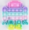 Pop It Παιχνίδι  ΑντιΣτρες - Bubble ουρανιο-τοξο παστελ χρωματα Robot (oem)(bulk)