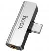 Αντάπτορας Hoco LS26  USB-C male - 3.5mm / USB-C female (LS26) Ασημι