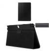 Δερμάτινη Μαγνητική Θήκη και Stand για το Samsung Galaxy Tab Pro 10.1 SM-T520 Μαύρη με ασπρα γαζιά (OEM)