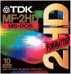 "TDK MF-2HD Formatted 3.5"" 1,44MB , FOR IBM AND OTHER COMPATIBLES ,Double Density Micro Floppy Disks"