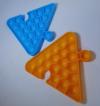 Pop It Παιχνίδι  ΑντιΣτρες - Bubble μονοχρωμο μπλε Τριγωνο Puzzle  (oem)(bulk)