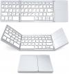 Jelly Comb Bluetooth Πτυσσόμενο Πληκτρολόγιο με TouchPad για iOS, Android, Windows, PC, Tablet & Smartphone Ασημί