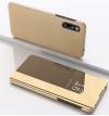 Θήκη Βιβλιο  Clear View για Xiaomi Redmi 9c - Χρυσό (OEM)