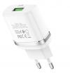 Φορτιστής quick charger  Hoco USB Λευκό (C12Q Smart)