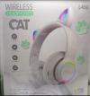 Παιδικά Ακουστικά ασυρματα με FM Ραδιο , Ασπρο χρωμα,  L450 - 7 LEDS ,  δεχεται TF καρτα  (OEM)