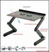 Πτυσσόμενο Τραπεζάκι T8 Laptop Ergonomic Laptop Desk με Ανθεκτικό Μεταλλικό Σκελετό & 2 Ανεμιστήρες (OEM)